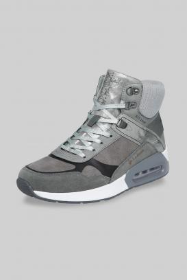 High-Top Sneaker im Materialmix