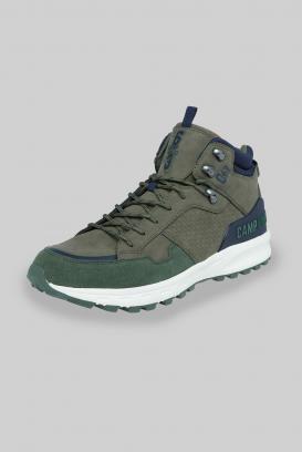 Hiking Sneaker mit Logo-Details