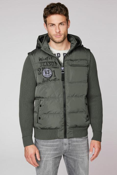 2-in-1 Jacke mit Kapuze und Strickärmeln
