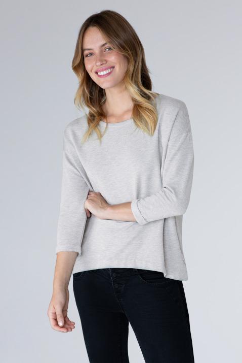 Basic Sweatshirt mit leichter Kastenform