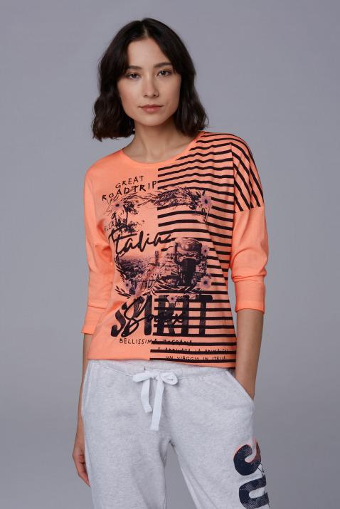 Baumwollshirt mit Artwork