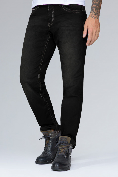 Black Used Denim CO:NO Comfort Fit