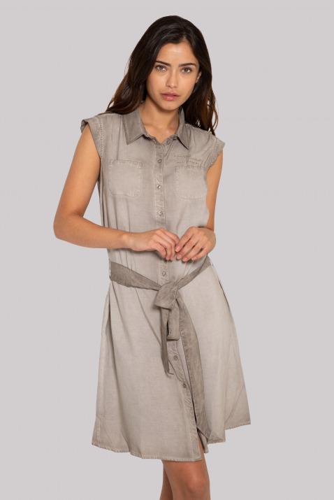 Blusenkleid mit Bindegürtel