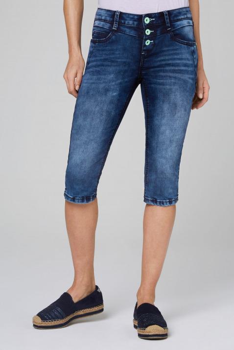 Capri Jeans LY:IA mit bunter Knopfleiste