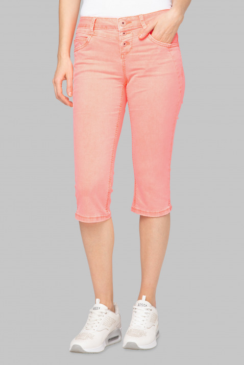 Coloured Capri Denim LY:IA mit Knopfleiste