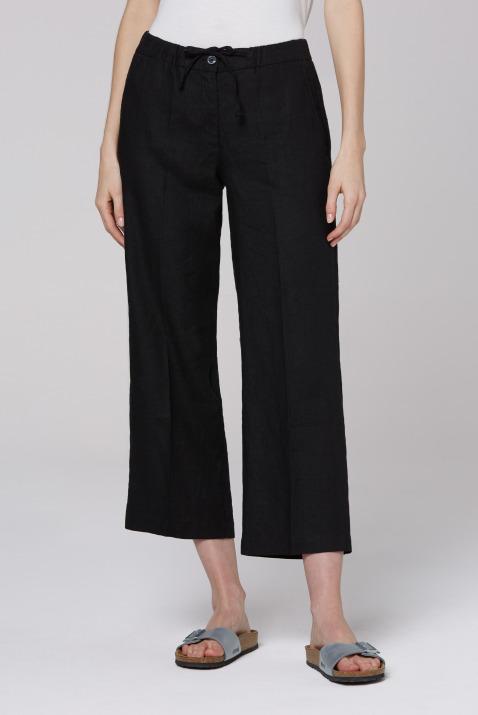 soccx - Culotte aus Leinen mit Bügelfalte Farbe : black ,  Größe:  S