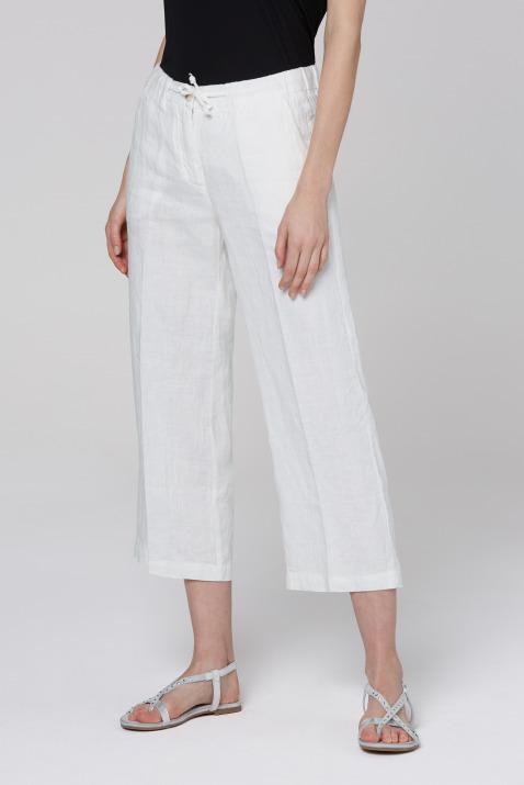 soccx - Culotte aus Leinen mit Bügelfalte Farbe : cotton white ,  Größe:  L