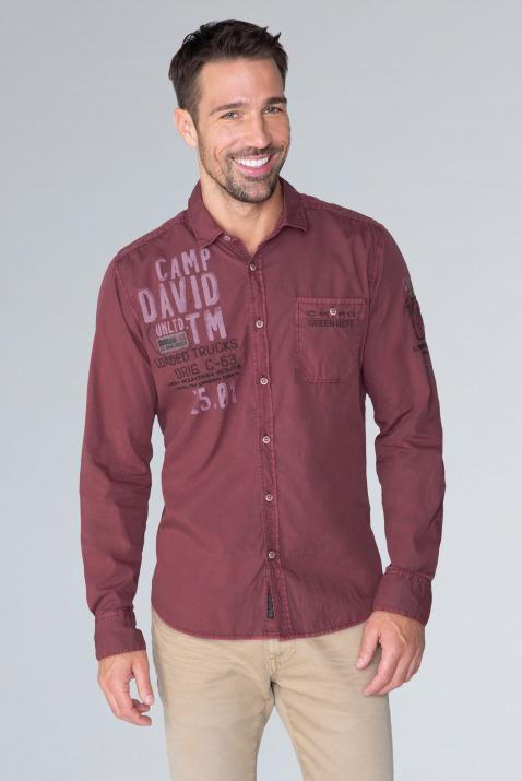 Hemd mit Used-Waschung und Artworks