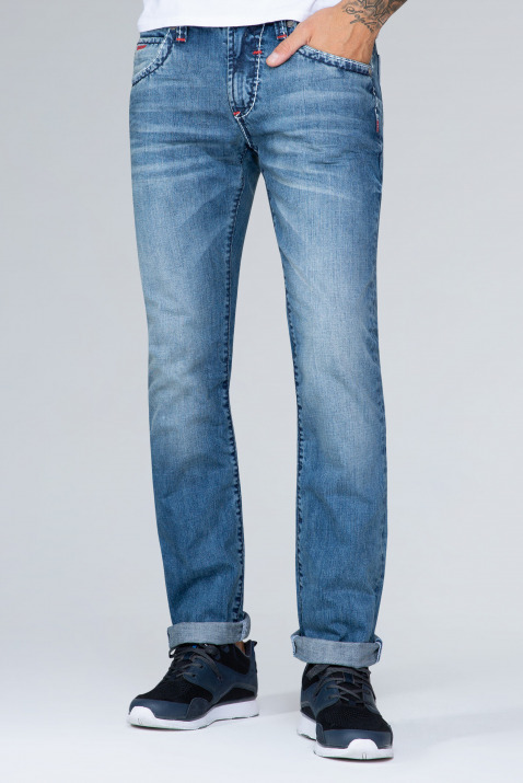 Jeans NI:CO mit Stone Used, Regular Fit