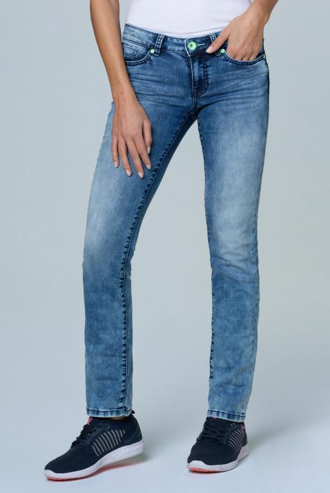 Jeans RO:MY mit Bleaching-Effekten