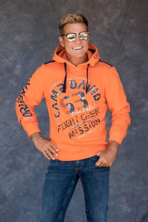 Kapuzensweater mit großem Used Print