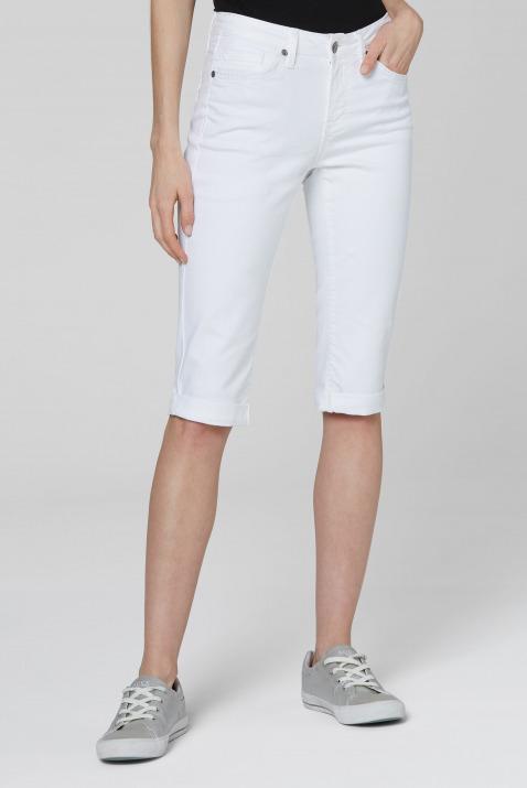 Knielange Jeans RO:MY mit tonigen Nähten