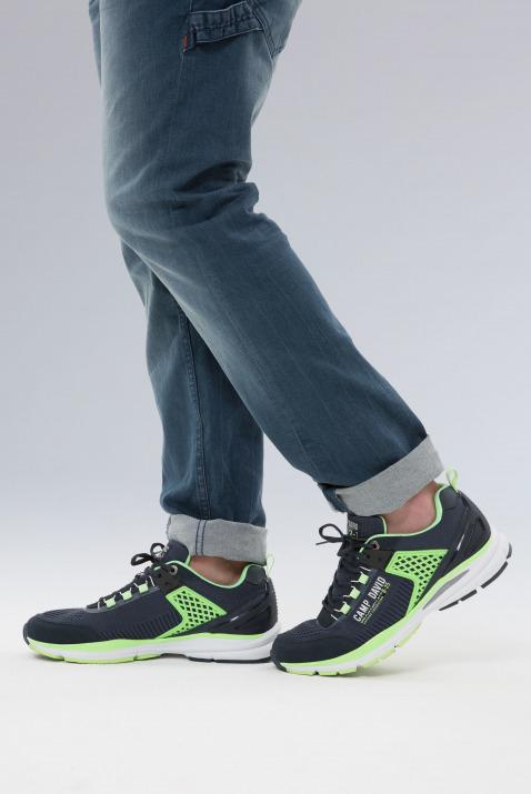 Knitted Sneaker mit Logo-Applikationen