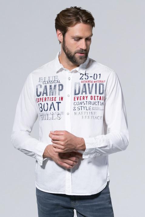 Langarmhemd aus Popeline mit Artwork