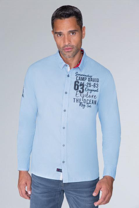 Langarmhemd mit Musterprint und Artworks