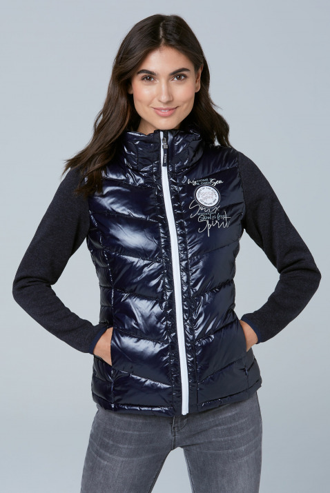 Jacken - Outdoorjacke im Materialmix Farbe dark blue  - Onlineshop CAMP DAVID, SOCCX