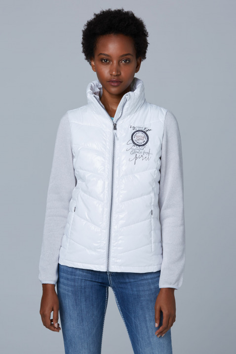 Jacken - Outdoorjacke im Materialmix Farbe opticwhite  - Onlineshop CAMP DAVID, SOCCX