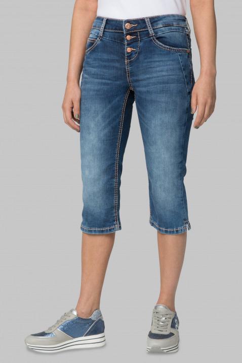 Stone Used Capri-Jeans LY:IA mit Knopfleiste