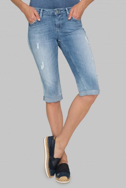 Stone Used Capri-Jeans RO:MY mit Seiten-Tape
