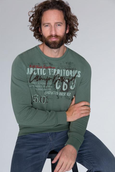 Sweatshirt mit Raw Edges und Artwork