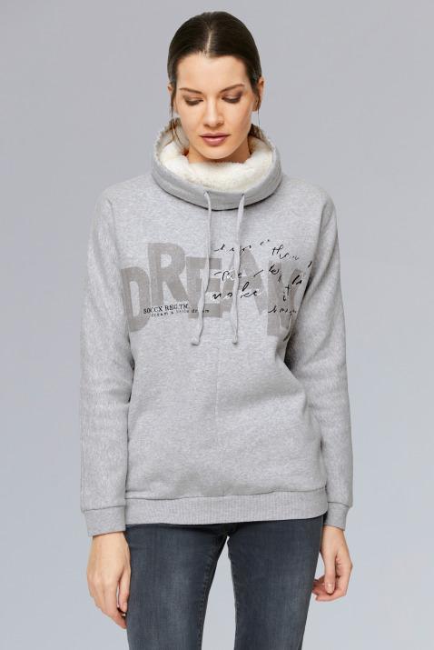 Sweatshirt mit Sherpa-Kragen