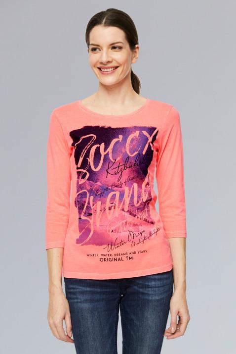 T-Shirt mit 3/4-Arm und Photoprint