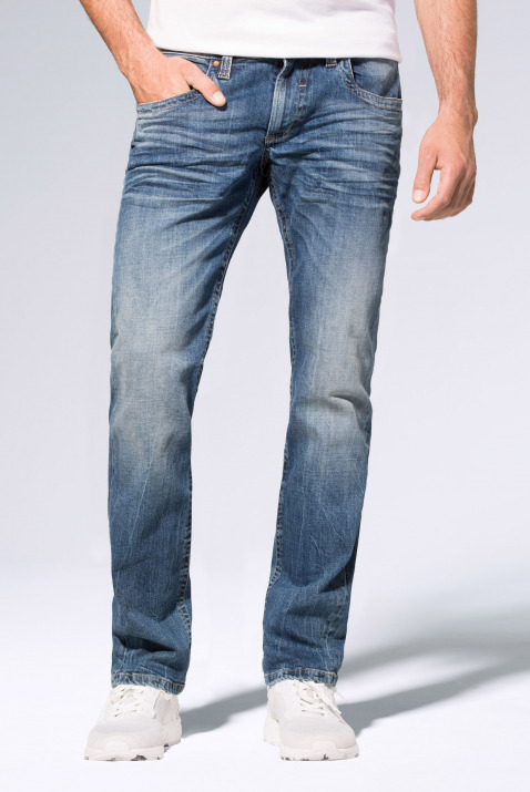 Used-Optik und leichtem Boot Cut Jeans NI:CO
