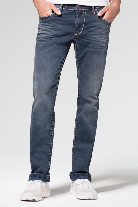 Vintage-Waschung und breiten Nähten Jeans NI:CO