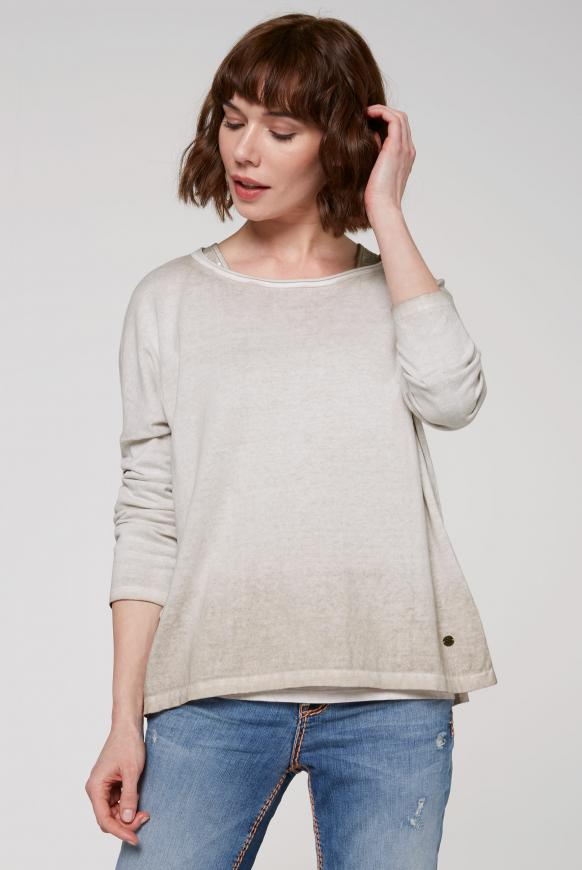 2-in-1 Pullover mit Used-Färbung