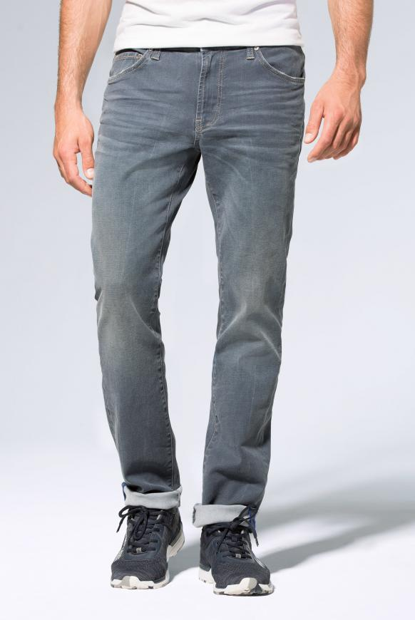 5-Pocket-Jeans NI:LS mit schmalen Beinverlauf grey blue used