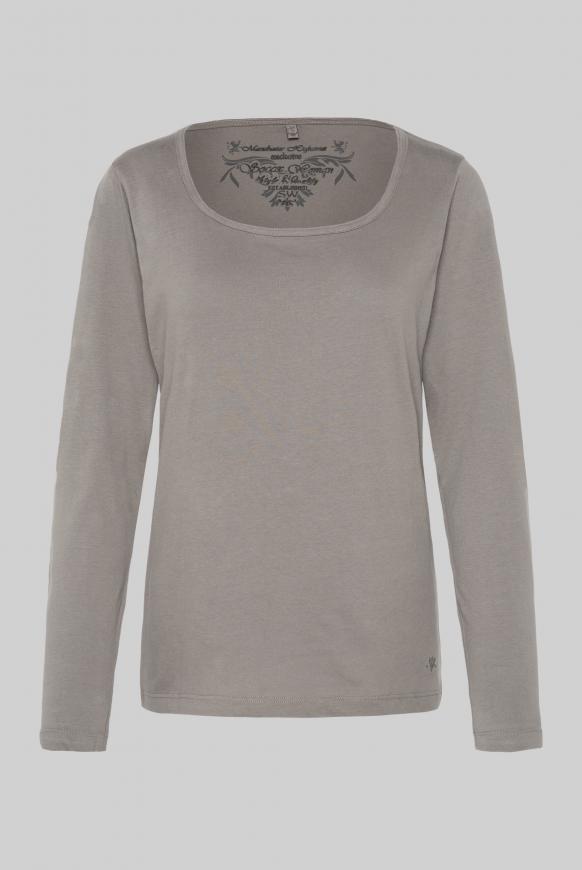Basic Langarmshirt soft brown