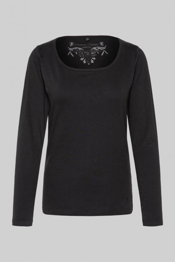 Basic Langarmshirt black