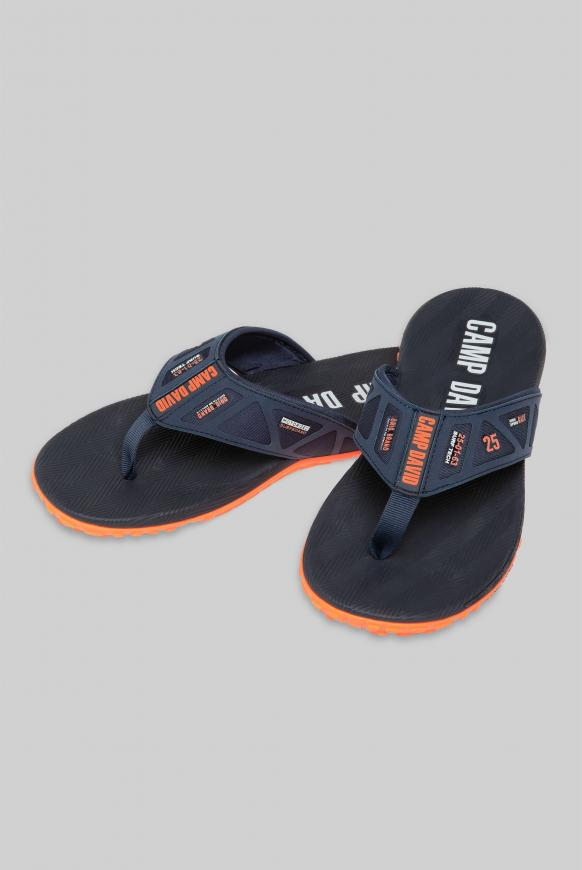 Beach Slipper mit Profilsohle navy
