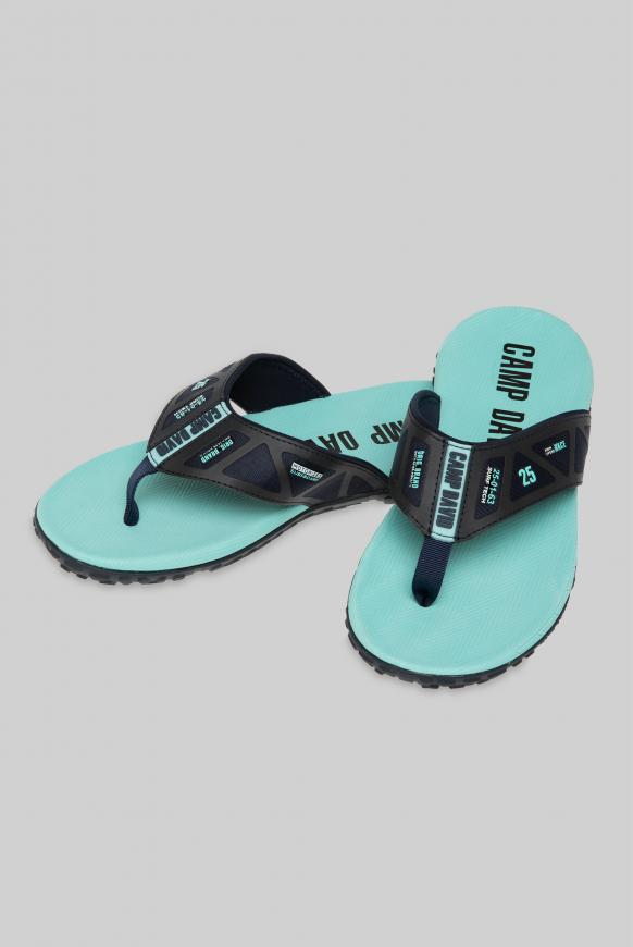 Beach Slipper mit Profilsohle sea aqua