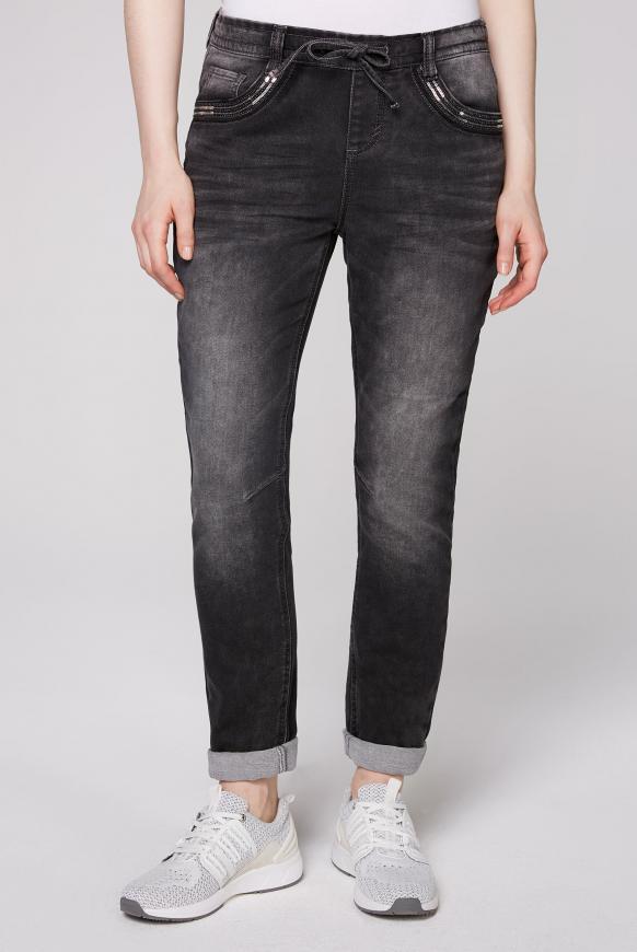 Boyfriend Jeans JO:SY aus Sweatmaterial grey used