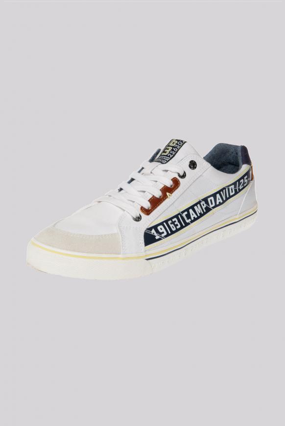 Canvas Sneaker mit Logo Artworks white