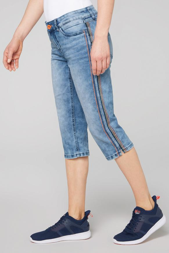 Capri Jeans CE:LI mit dekorativen Ziernähten random used
