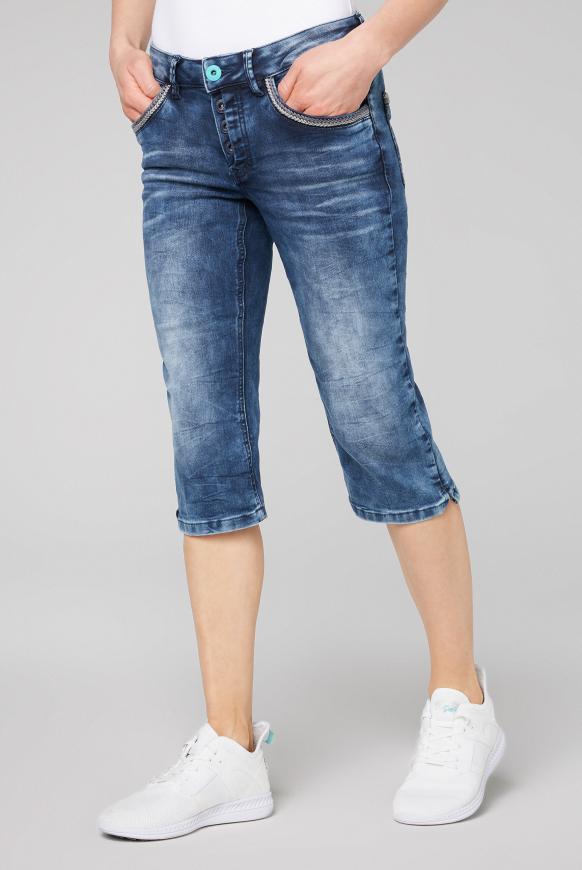 Capri Jeans LY:LI mit Taschen-Stitchings