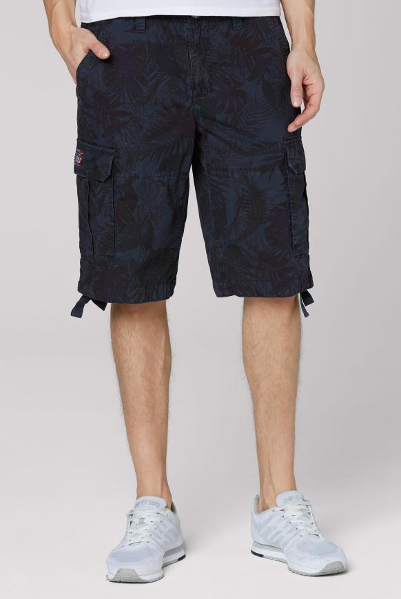Cargo Shorts mit All Over Print dusty blue