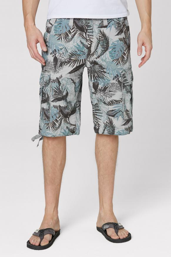 Cargo Shorts mit All Over Print natural