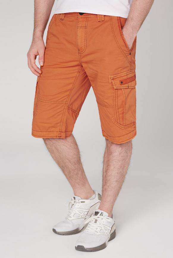 Cargo Shorts mit kleinen Label-Applikationen sunstone