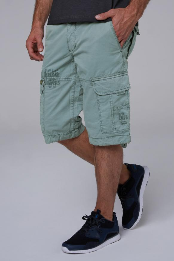 Cargo Shorts mit Prints und Stickereien viking blue