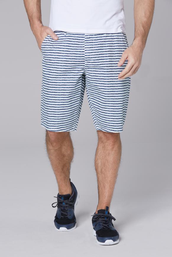 Chino Shorts mit All Over Print opticwhite stripe