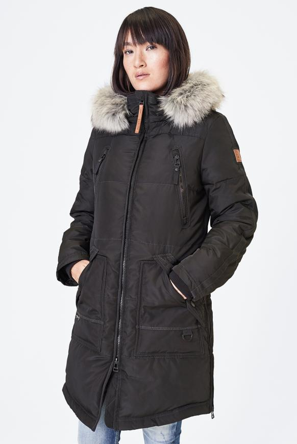 CIN-DY Stepp-Parka mit Kapuze black