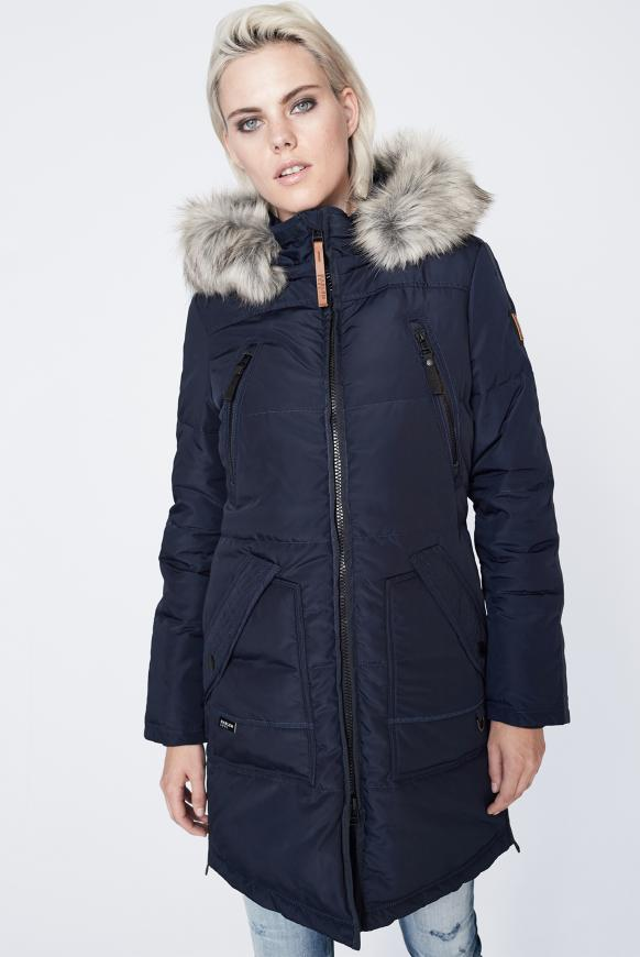 CIN-DY Stepp-Parka mit Kapuze blue navy