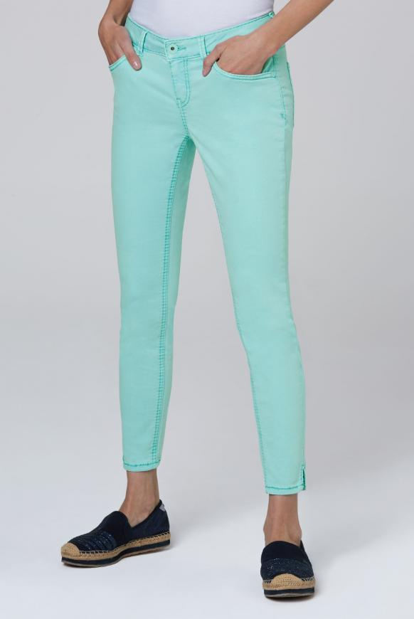Coloured Denim MI:RA mit verkürztem Bein cool aqua