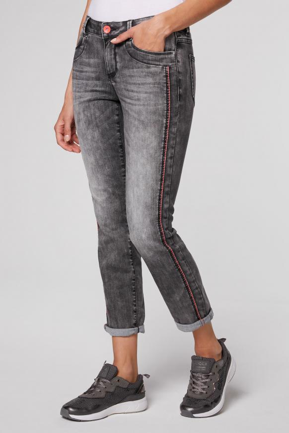 Comfort Fit Jeans CH:AR mit Vintage-Waschung grey vintage