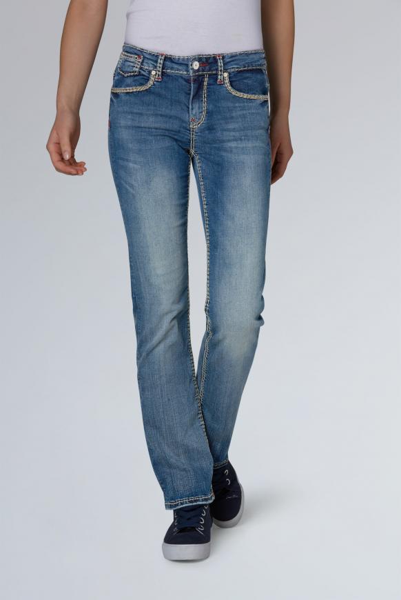 Comfort Fit Jeans CO:LE mit Used-Optik blue vintage