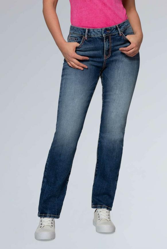 Hosen - Comfort Shape Jeans EL KE im Stone Used Look Farbe stone used  - Onlineshop CAMP DAVID, SOCCX
