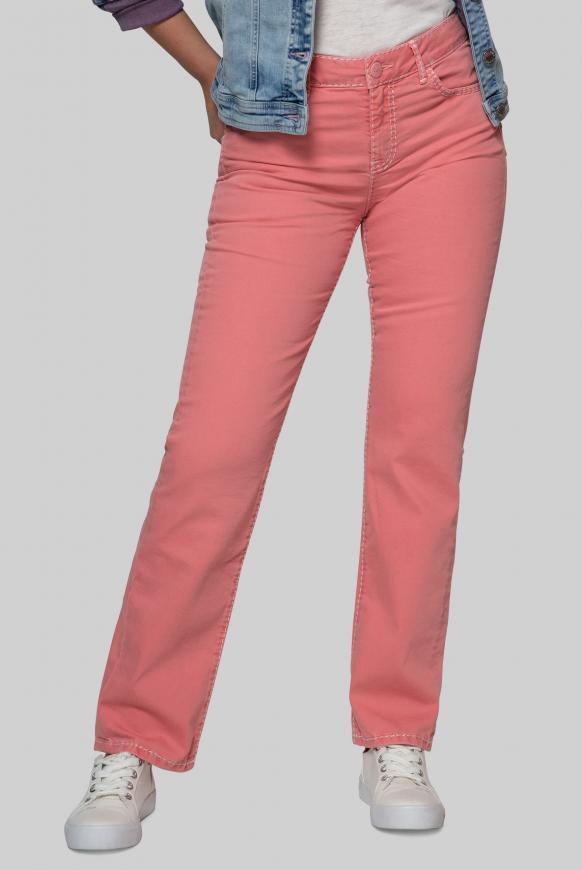 Comfort Shape Jeans EL:KE mit breiten Nähten jucy red